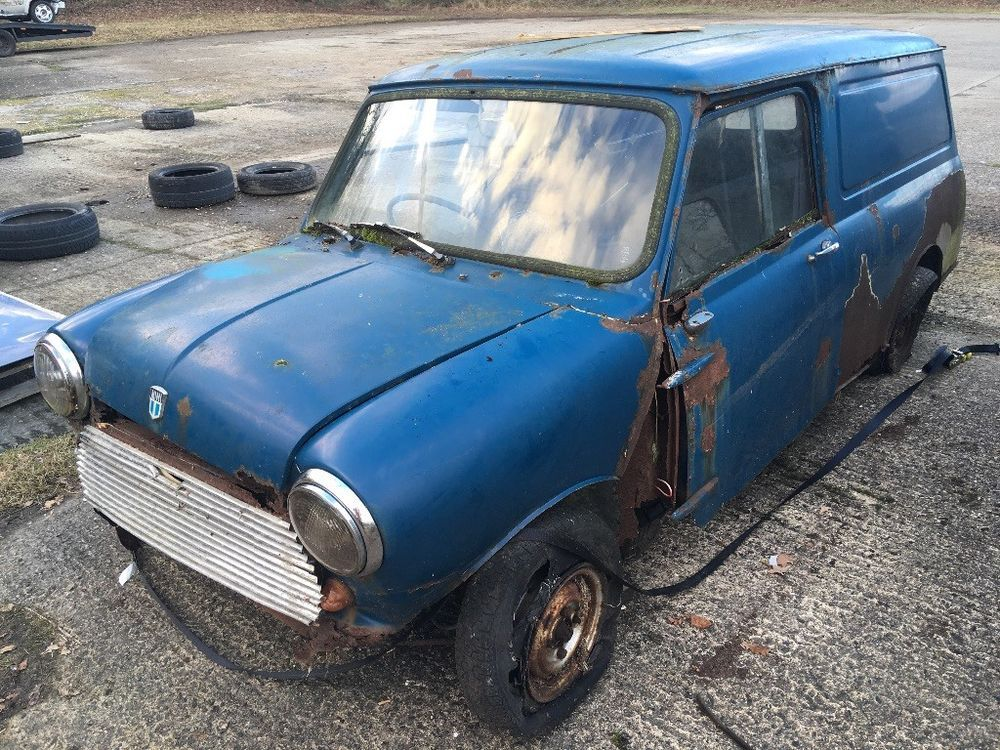 eBay: 1972 Austin Mini van project Barn find  Complete
