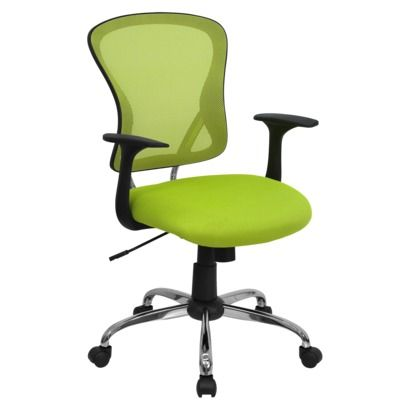 Mid-Back Mesh Chair with Chrome Base - Green at Target $149