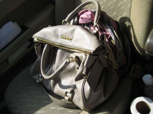 44ae0411323a Bag · i FINALLY found MY perfect Alluminio Miu Miu Bow Satchel