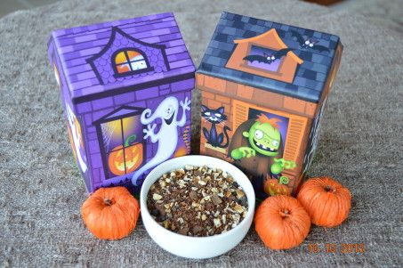 This tasty tea is sure to make you cackle. Sweet, spicy and without caffeine so your little goblins can enjoy it too. Comes packaged in a cute Haunted House. Limited quantities so order now. $8.95 http://www.beleaveteas.info/product/witchs-brew/