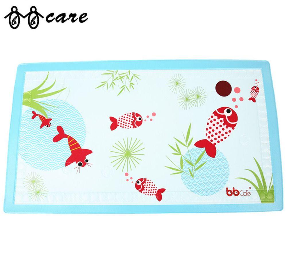 Baby nonslip bath mat with heat sensitive spot baby care