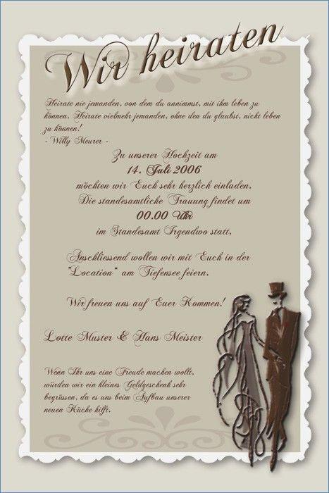 Text Einladung Hochzeit Standesamt Inspirational Einladung