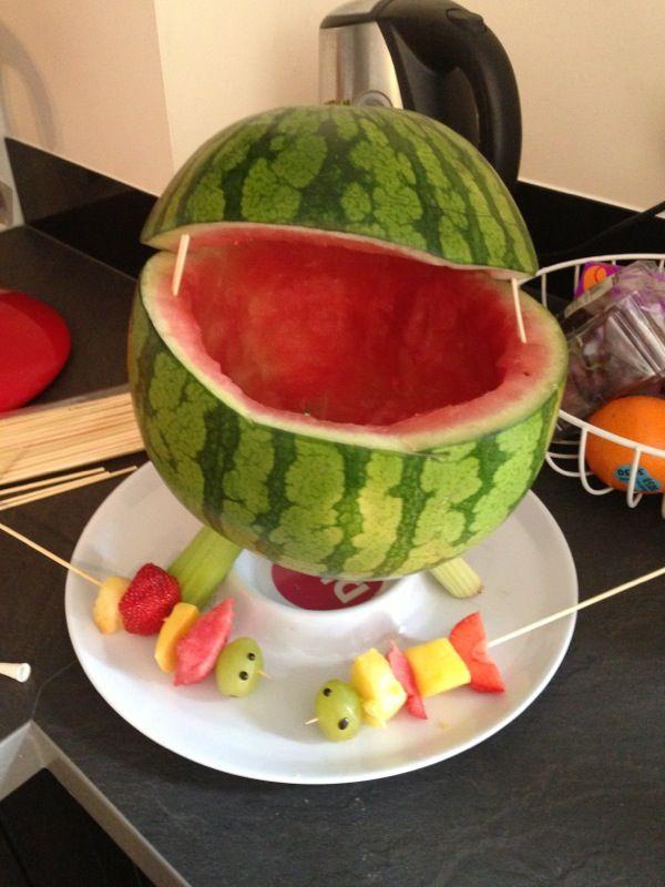 Fruit kebab bbq