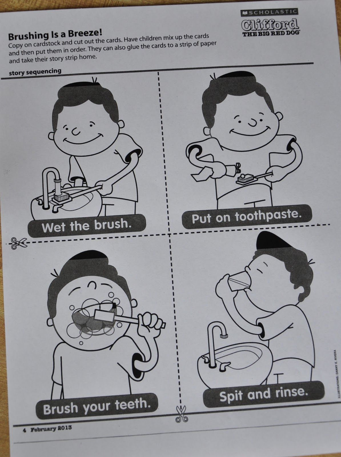 How To Brush Your Teeth Sequencing Pictures