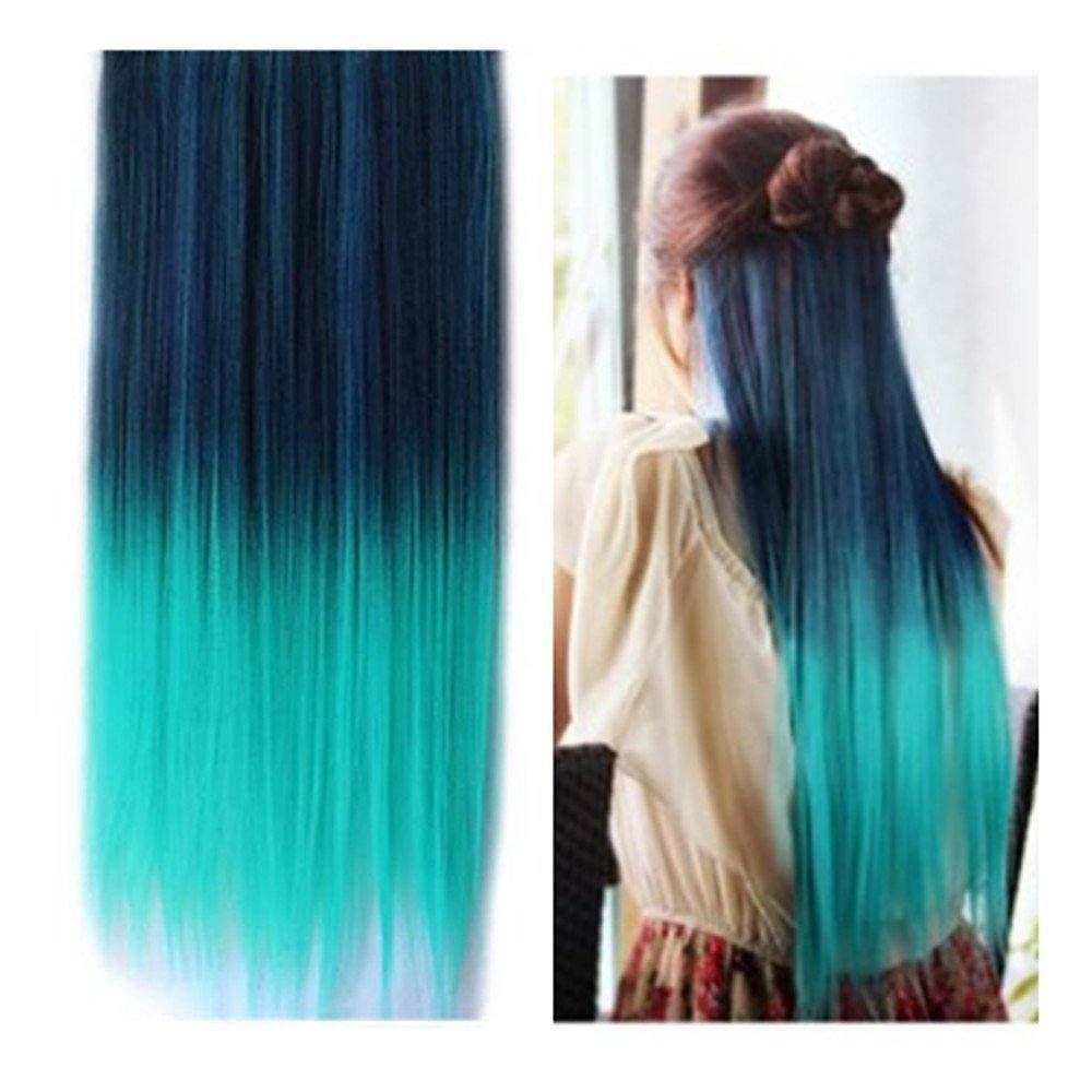 No heahair popular color green clip in hair extension heahair