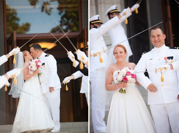 Navy dress uniforms wedding images for Free wedding dresses for military brides