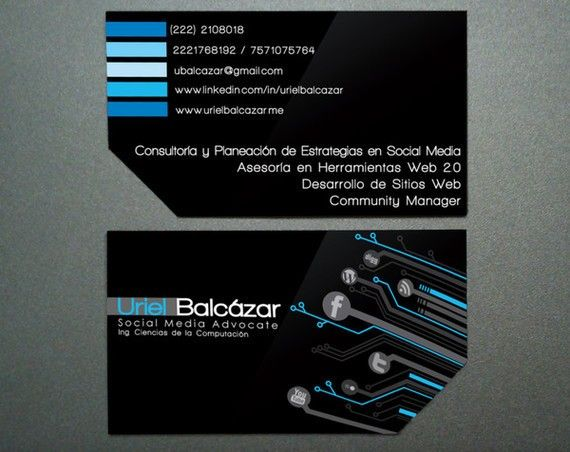 Clean And Minimal Creative Business Card Design  Free Business