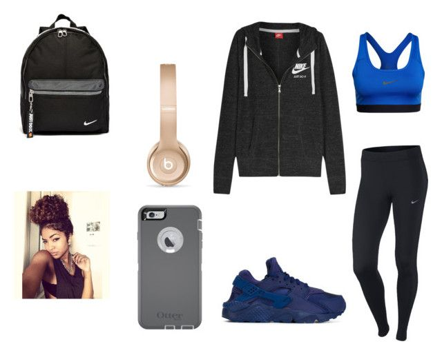 """""""outfit #157"""" by anaguilhermep98 on Polyvore featuring NIKE, OtterBox, Beats by Dr. Dre, women's clothing, women, female, woman, misses and juniors"""
