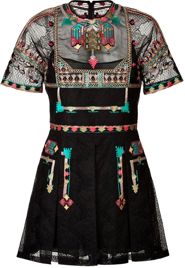 Valentino Embroidered Playsuit on shopstyle.com