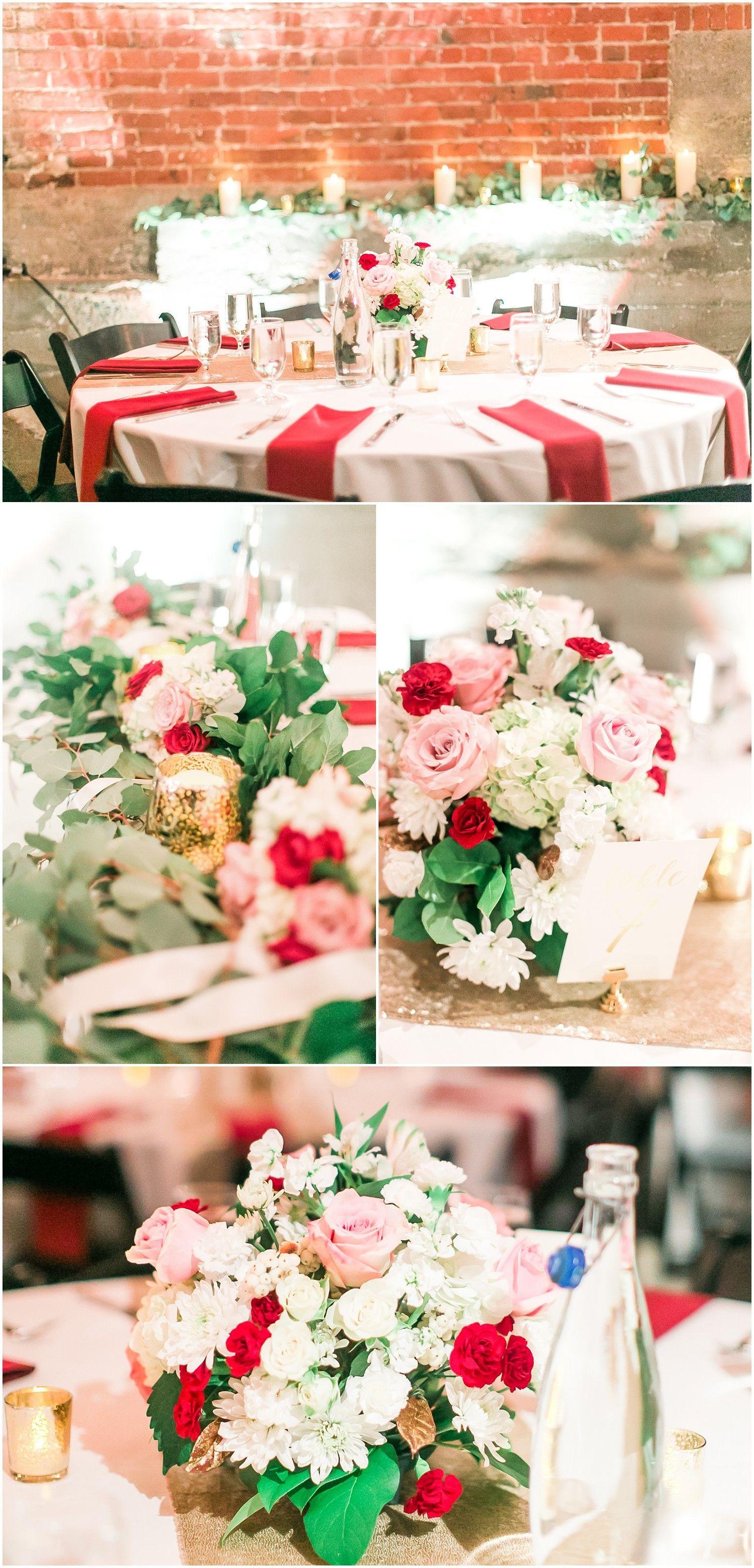 Pink and maroon wedding decor  Melrose Market Studios Wedding  RHP  Wedding Decor  Pinterest