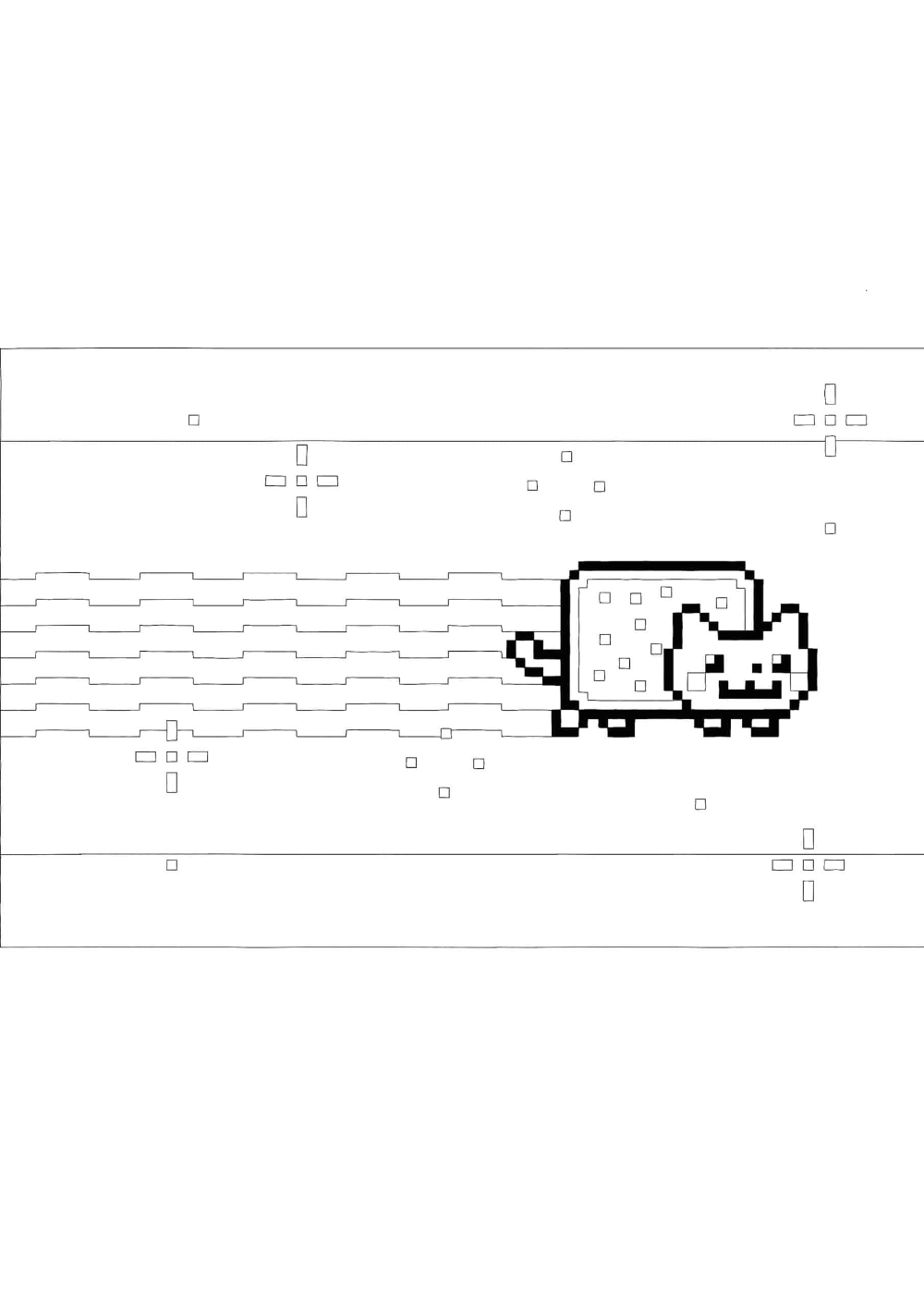 Nyan Cat Coloring Pages - 22 Free Coloring Sheets (220220)  Cat