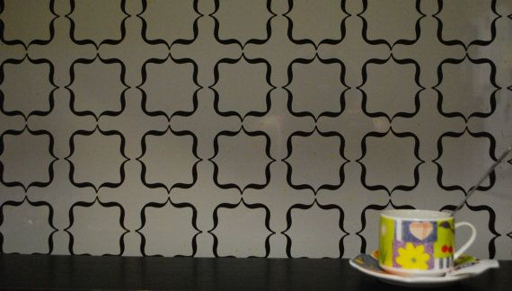 Vinyl Backsplash Vinyl Wall Decal Backsplash By DecalsEnFolie - Custom vinyl wall decals for kitchen backsplash
