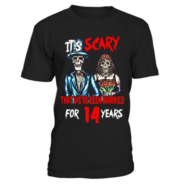 Vintage Tshirt For 14th Wedding Anniversary, Hallo