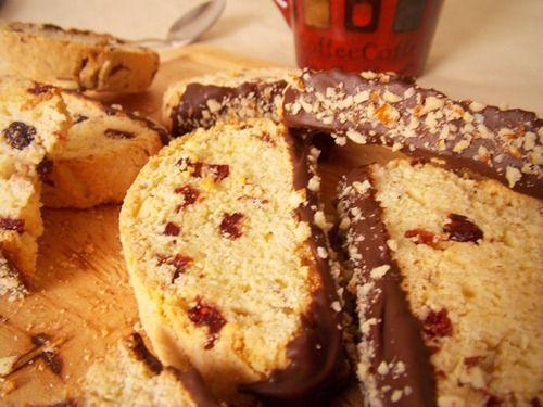 biscotti aux amandes & cranberries