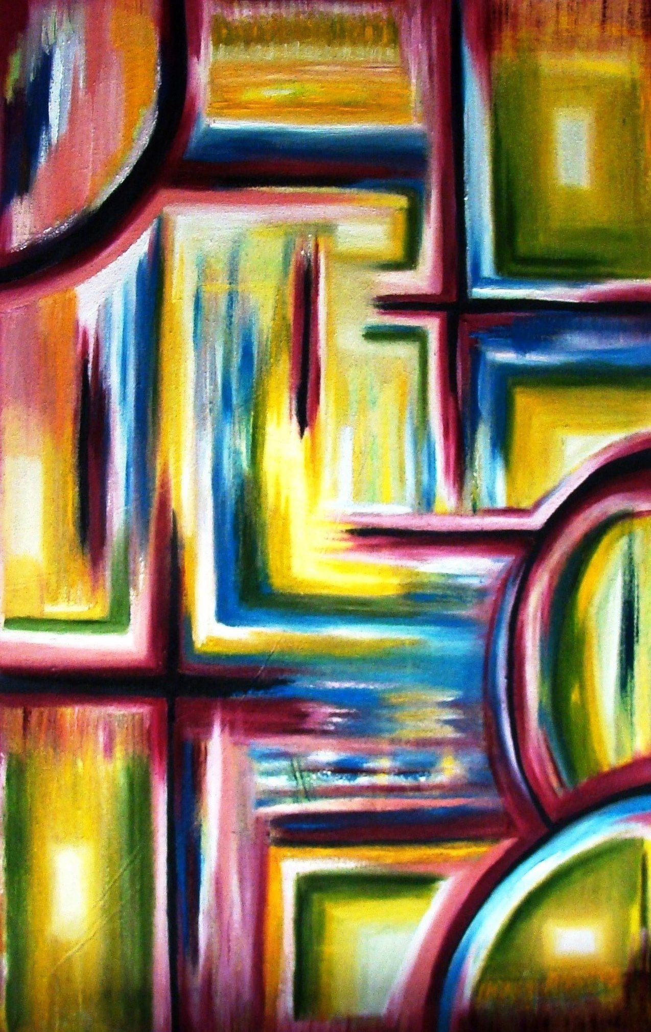 Life is a Maze\' medium sized oil and acrylic wall art 60 cm x 45 cm ...