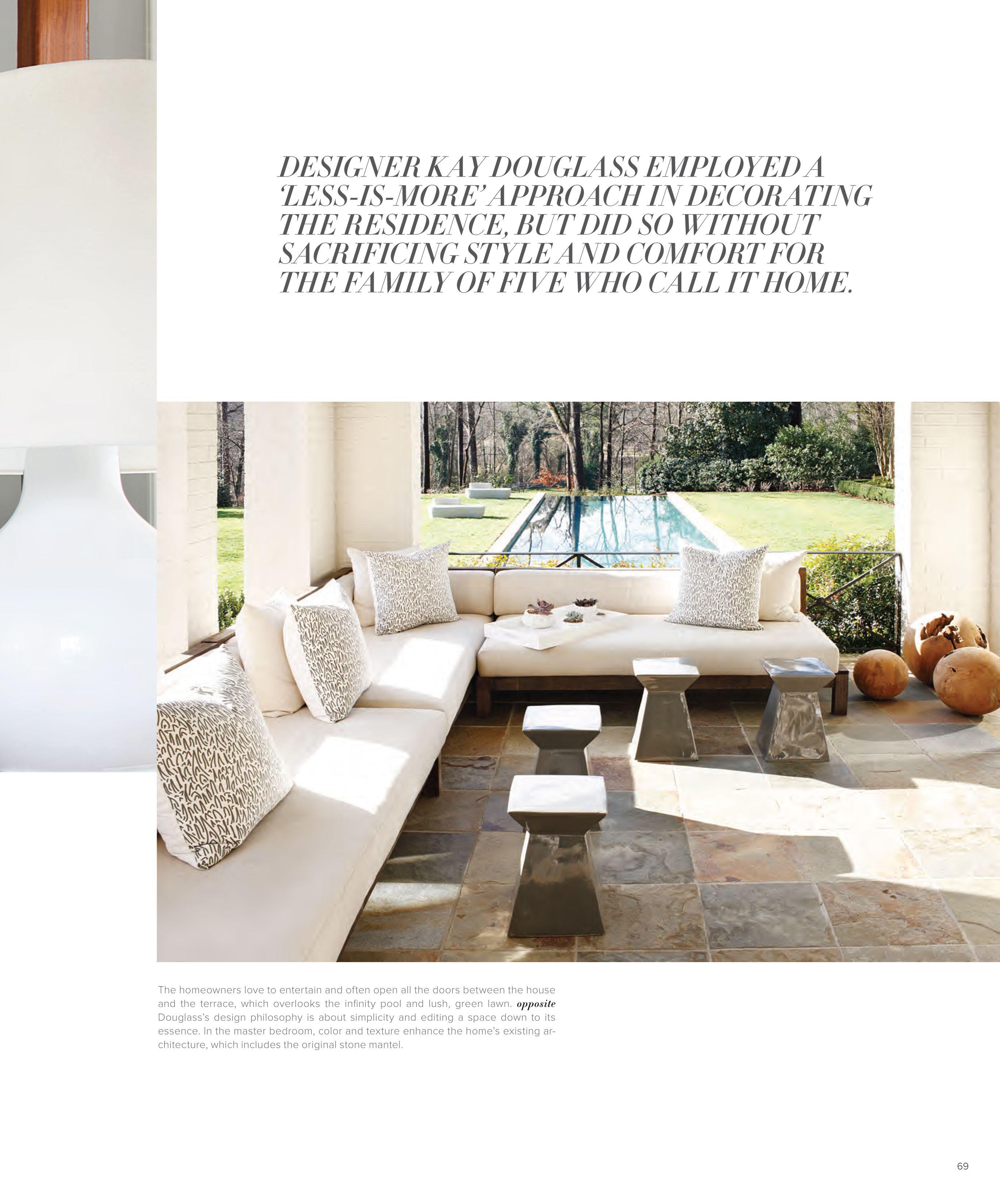 Comfort Of Home Furniture Exterior Interior kay douglass interiors | photographmali azima | publication