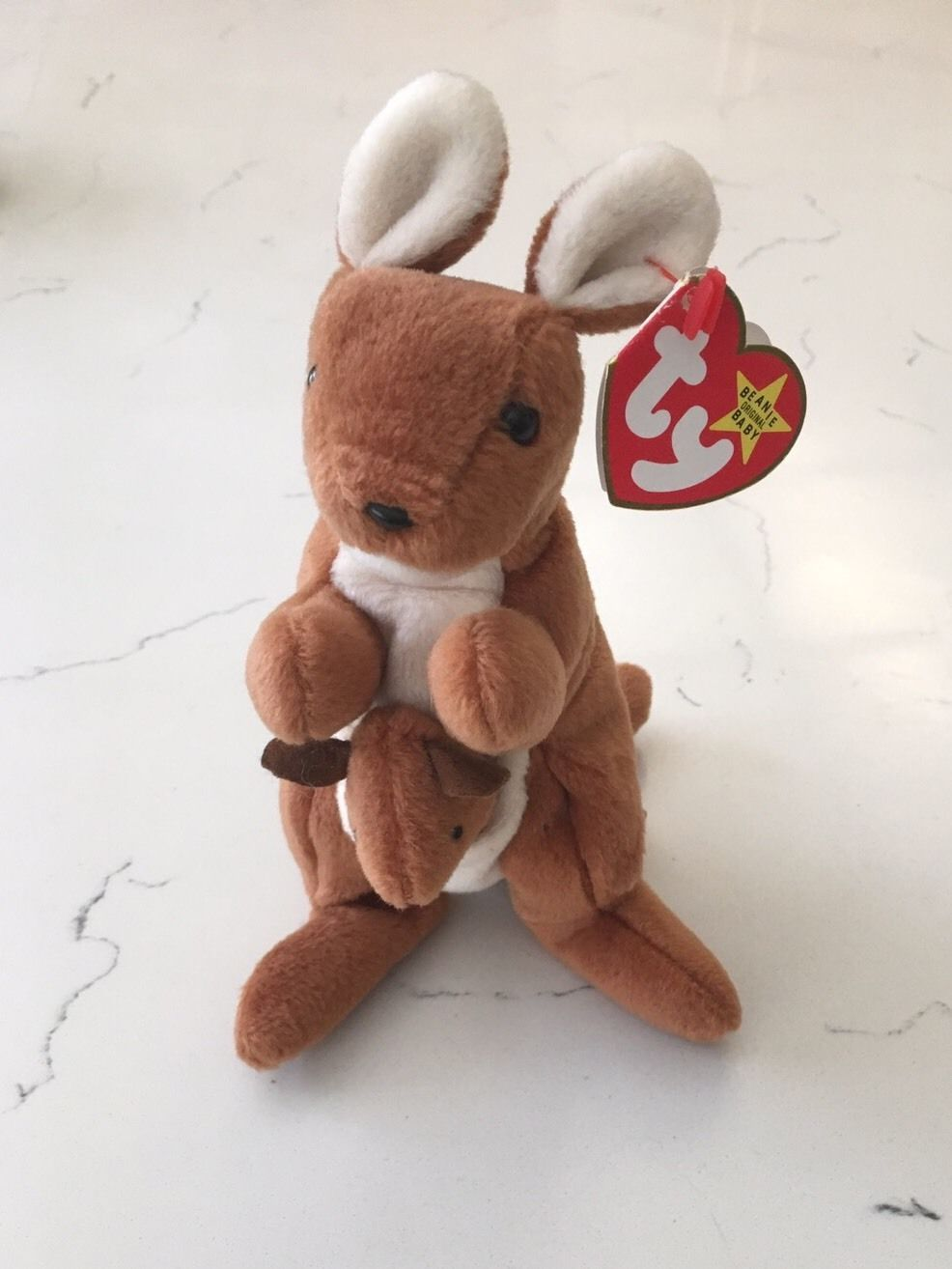 fb0615357ca RARE Ty Beanie Baby Pouch the Kangaroo With Errors PVC Pellets ...