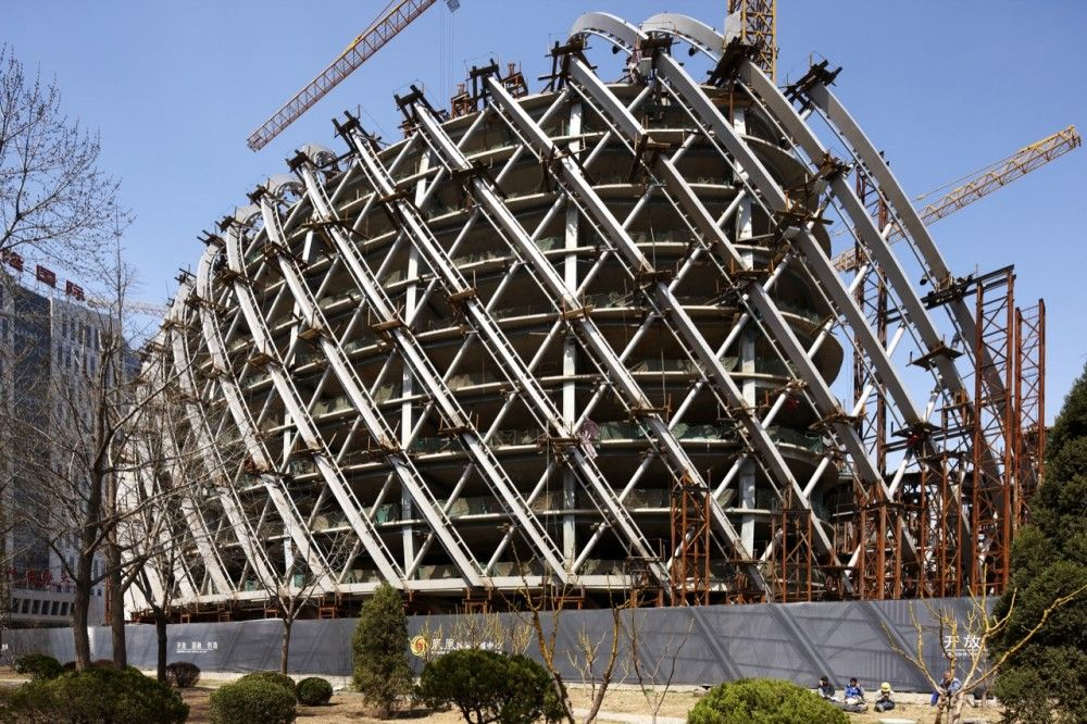 In progress shot of the Phoenix International Media Center by BIAD UFo #Architecture #Structure