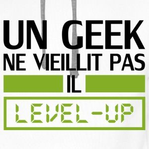 un geek ne vieillit pas il level up Tee shirts - Sweat-shirt à ... bb802877eeb1
