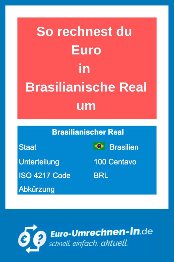 So Rechnest Du Euro In Brasilianische Real Um Umrechnen Euro Wahrungsrechner