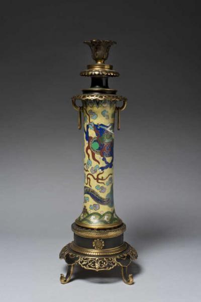 Emile Reiber 1826 1893 Christofle Pied De Lampe En Bronze