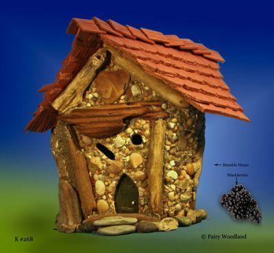 Bramble Village Fairy House #K26 in Bramble Village Fairy Houses at Fairy Woodland