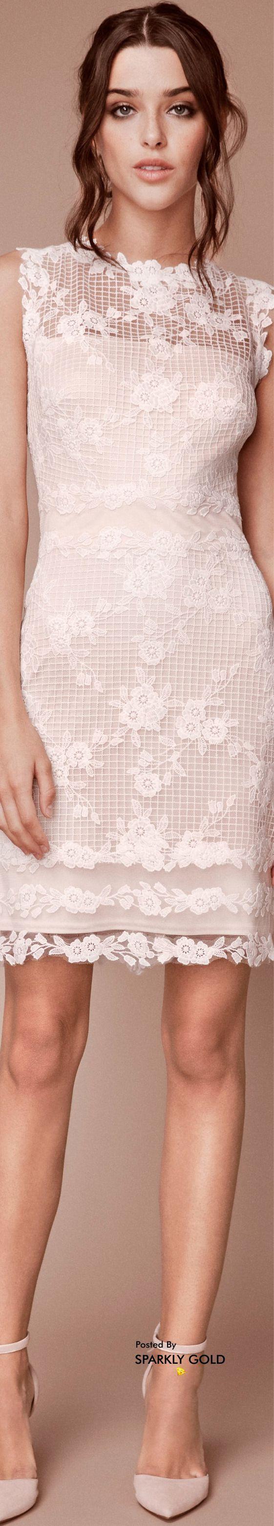 Lace dress bell sleeves june 2019 Tadashi Shoji Fall  Bridal TadashiShoji Bridal