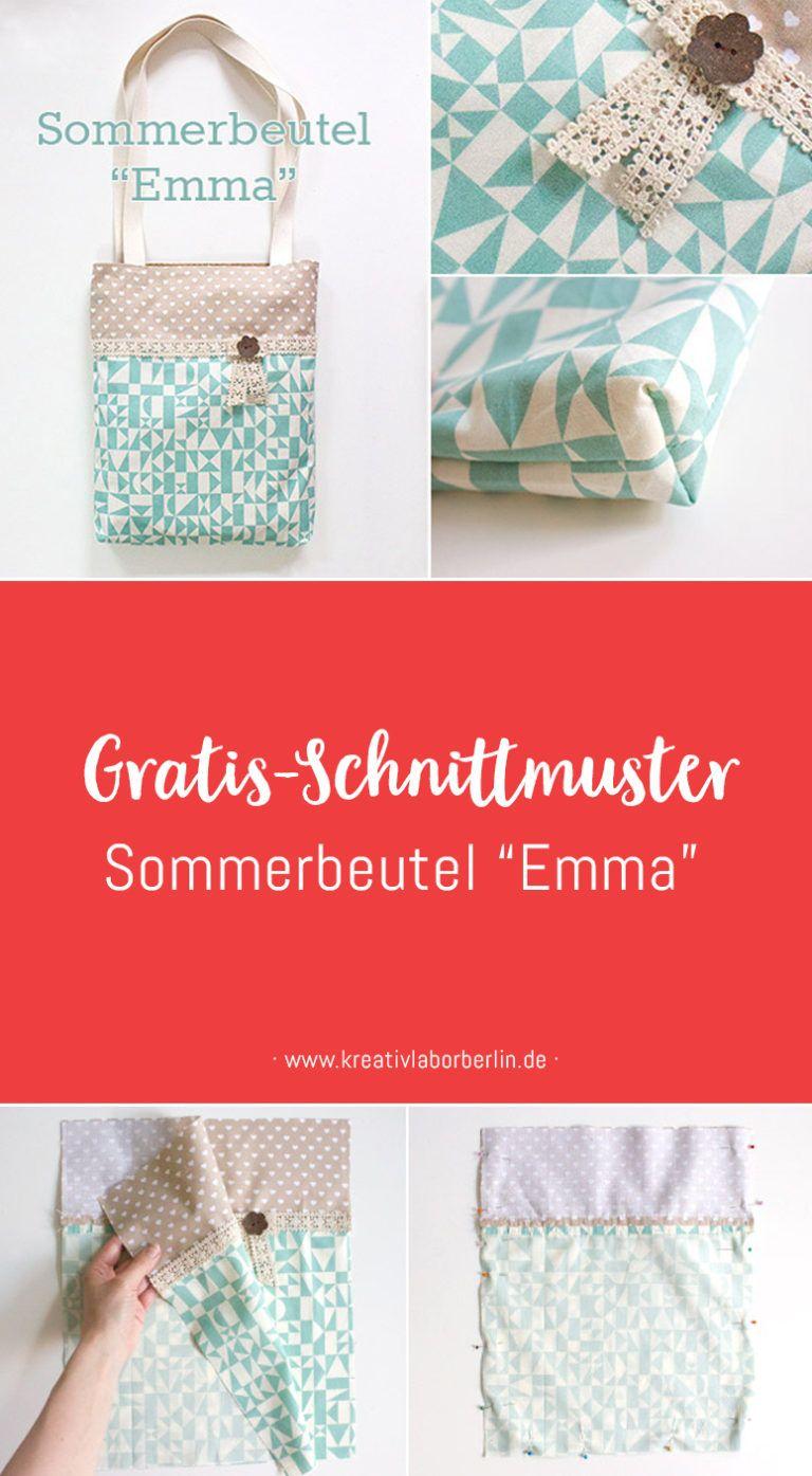 """Photo of Kostenloses Schnittmuster: Sommerbeutel """"Emma"""" – Kreativlabor Berlin"""