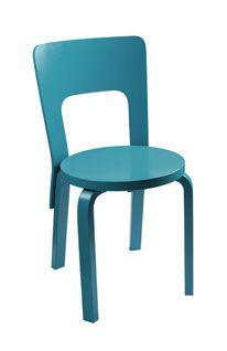 Turquoise, or cyan chair (artek)