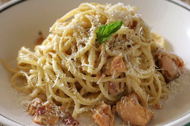 Smoked Salmon Carbonara By Chef Gwen Recipes Pinterest Smoked