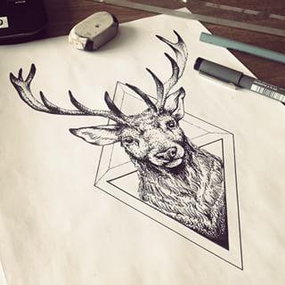 Deer Tattoo Deer Tattoo Ankletatto Arrowtatto 14