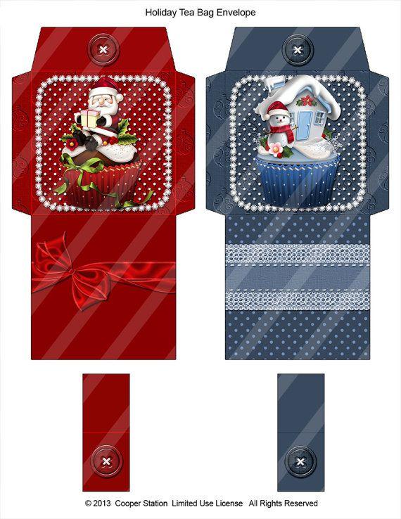 Digital christmas holiday tea wrapper cooperstation - Cajas de carton de navidad ...