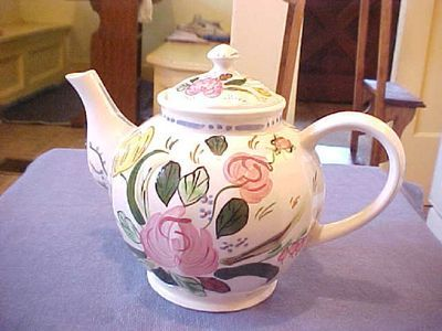 Vintage BLUE RIDGE southern pottery CHINA FLORAL TEAPOT LeShay Colonial