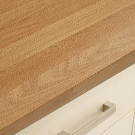 Oak Block Style Square Edged Worktop | Kitchen Worktops ...