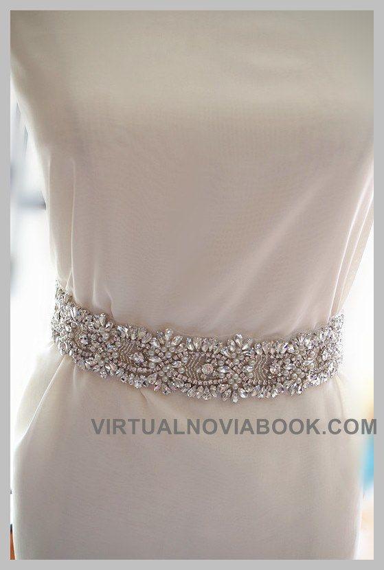Cinturón de pedrería :: Virtual Novia Book | Cinturones y apliques ...