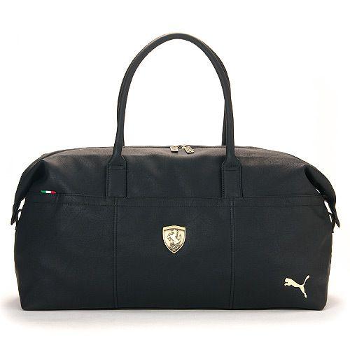 90ec2d0d9470 BN PUMA Ferrari LS Duffle Travel Gym Bag Black(07114901)