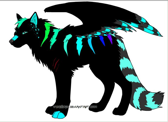 Pin By Skyfall The Wolf On Wingedwolfclan Anime Wolf Mythical Animal Fantasy Wolf