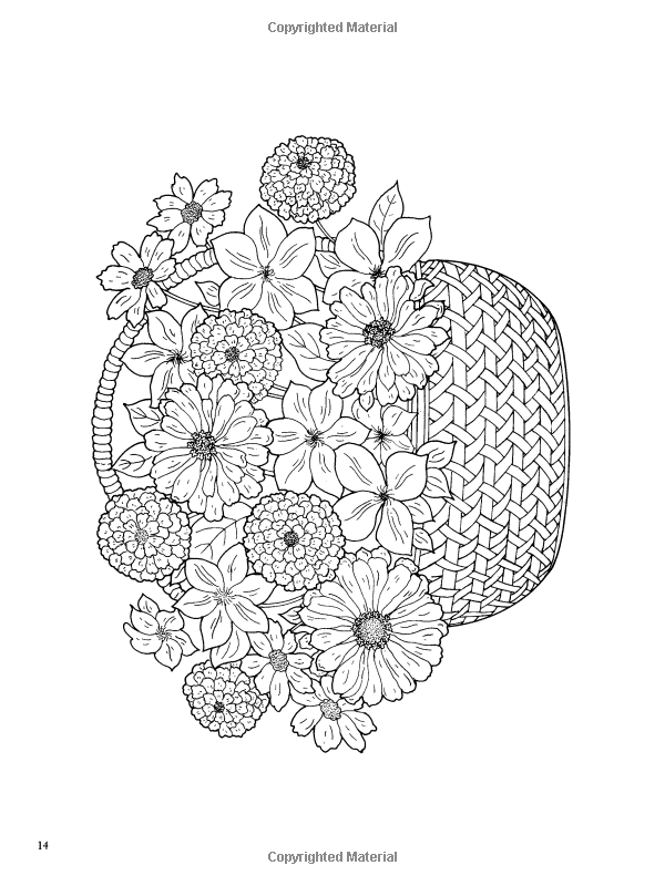 Floral Beauty Coloring Book Dover Nature Coloring Book Charlene Tarbox 9780486459226 Amazon Co Flower Coloring Pages Coloring Books Mandala Coloring Pages