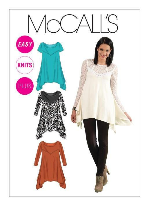 dbd66c78570f3f Sewing Pattern for Misses/Womens Handkerchief-Hem Tunics Sizes available up  to 24W TUNIC TOPS WITH YOKE AND SLEEVE VARIATIONS Sew Rating: Easy PATTERN  ...