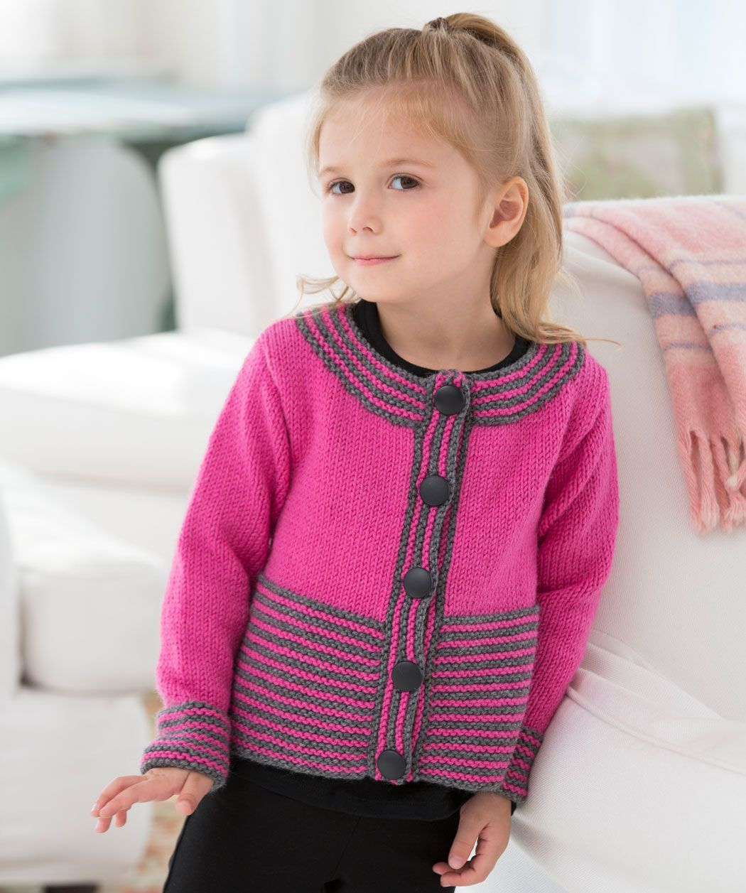 ae3e71f6c This cute cardigan is perfect to make for a little girl who is ...