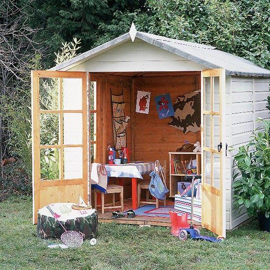 Wohnideen Gartenhaus outdoor playroom modern table playrooms and storage