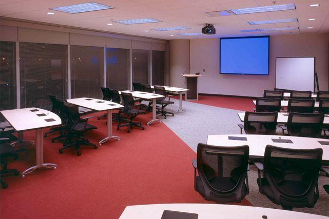 Office training room corporate interiors s1 for Training room design ideas