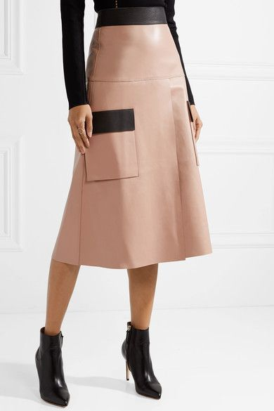 384301f756 Dion Lee - Two-tone leather skirt | Products | Leather Skirt, Skirts ...