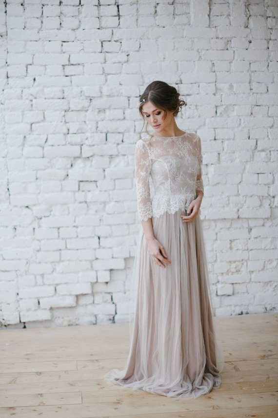 Wedding Dress Boho Wedding Dress Romantic Wedding Dress Long Sleeve