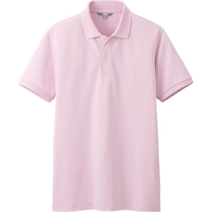 14082daf MEN DRY PIQUE SHORT SLEEVE POLO SHIRT | UNIQLO (PINK, CERULEAN ...