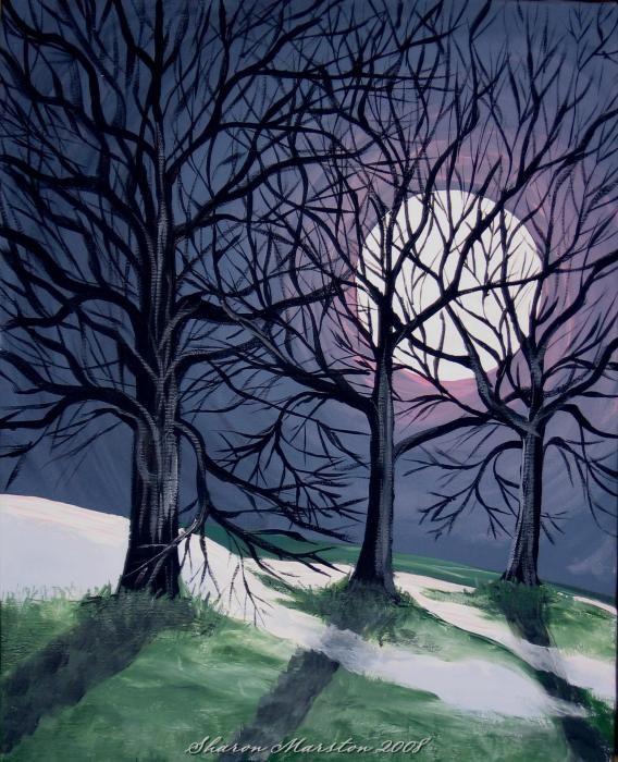 Last Night of The Winter Moon -by Sharon Marcella Marston