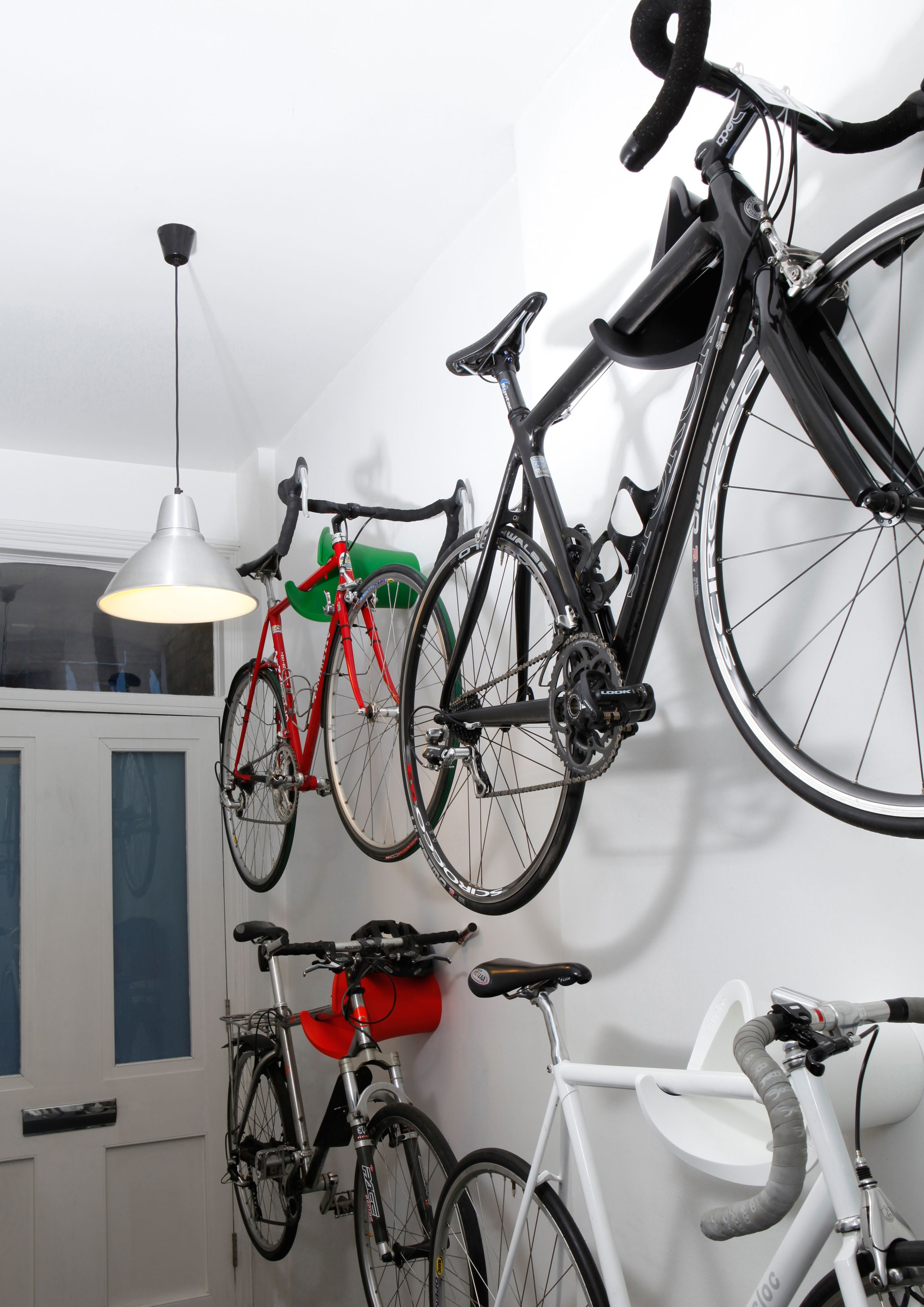 Having Trouble Getting Through Your Hallway Use Multiple Solos In Different Colours To Create An Eye Catching Bike Storage Bike Storage Uk Bike Storage Garage