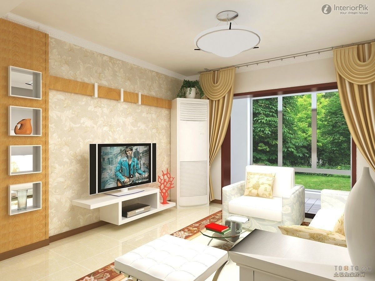 Orange Line The Living Room Tv Background Wall To Give People A Sense Of Rationality Living Room Living Room Tv Living Room Designs White Home Decor