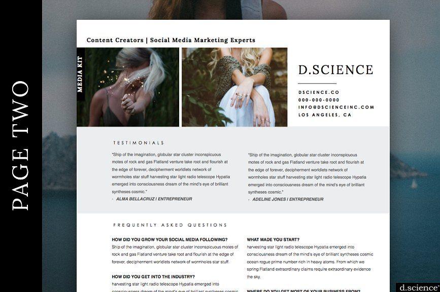 Media Kit Press Kit Resume No.2 Media kit, Press kit
