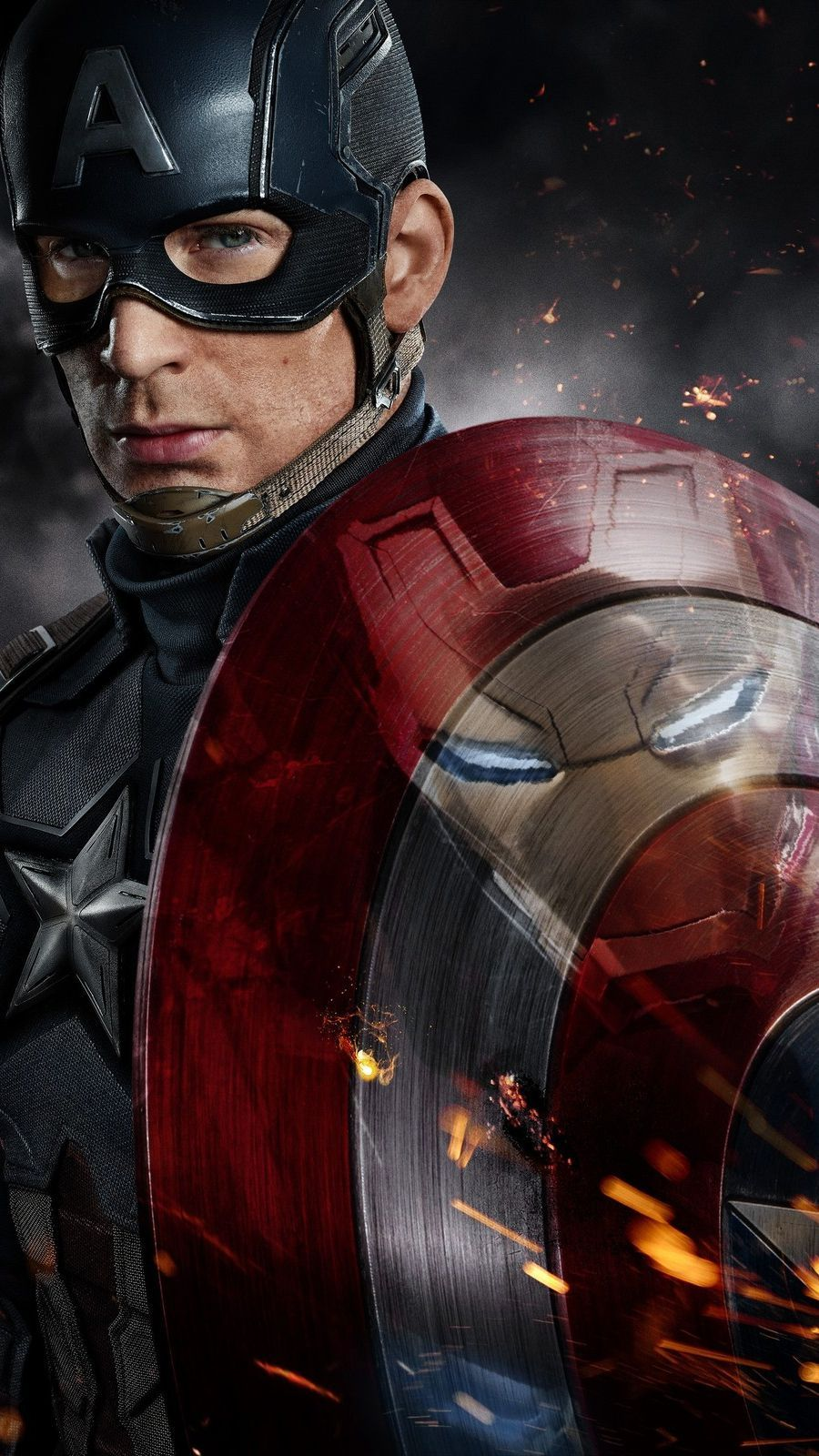 Captain America Vs Iron Man Fight Wallpaper Captain America